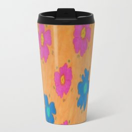 Summery Floral Print Travel Mug