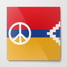 Artsakh Policy Peace & Freedom Metal Print