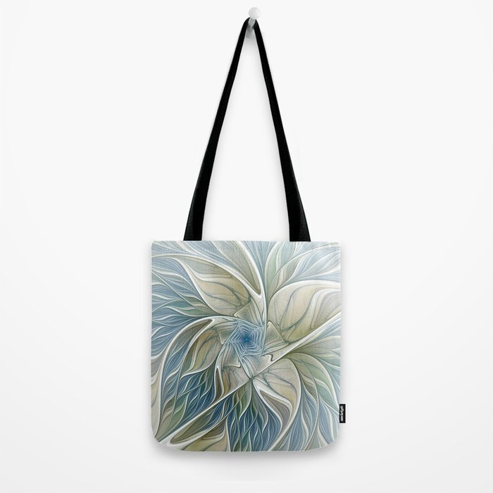 A Floral Dream, Abstract Fractal Art Tote Bag