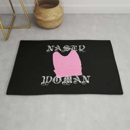 Nasty Woman Pink Pussie Hat Rug