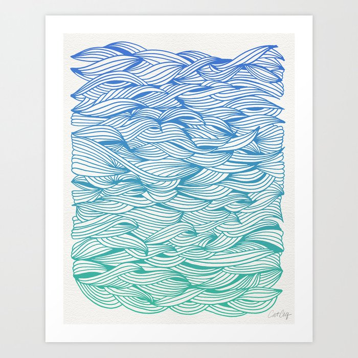 Ombré Waves Art Print