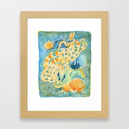 Nudibranchs and coral Framed Art Print