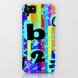 abc.123 iPhone Case