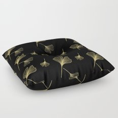 Ginkgo Black Gold Floor Pillow