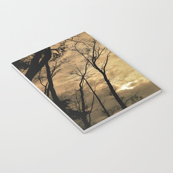 snow clouds above the wood Notebook