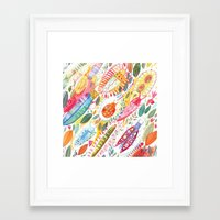 bugs Framed Art Prints featuring Bugs by Mia Dunton