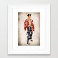 tyler durden Framed Art Prints featuring Tyler Durden by Ayse Deniz