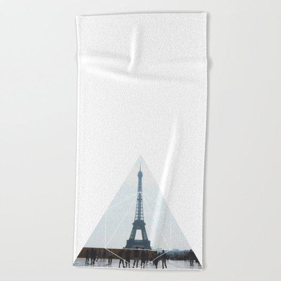 Eiffel Tower Art - Geometric Photography Beach Towel