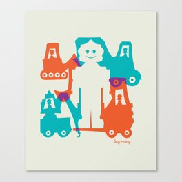 Friendlier Robots Canvas Print
