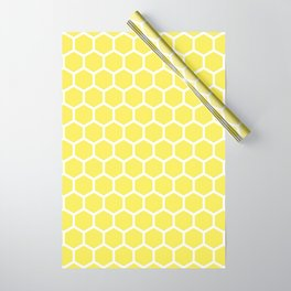Summery Happy Yellow Honeycomb Pattern - MIX & MATCH Wrapping Paper
