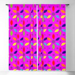 flowery magenta sheild Blackout Curtain