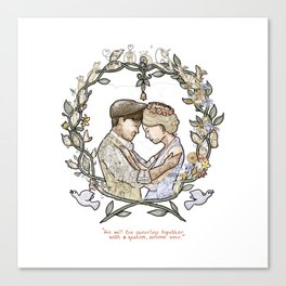 """Illustration from the video of the song by Wilder Adkins, """"When I'm Married"""" (no names on it) Canvas Print"""