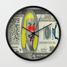 dollar funny Wall Clock