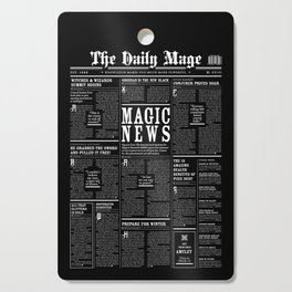 The Daily Mage Fantasy Newspaper II Cutting Board