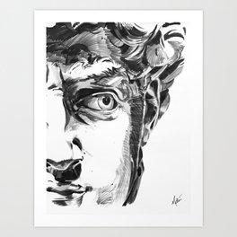 Michelangelo's David Art Print