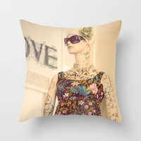 vogue Throw Pillows featuring Vogue by Carol Knudsen Photographic Artist