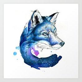 Celestial Fox Art Print