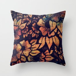 Rainbow Florals  Throw Pillow