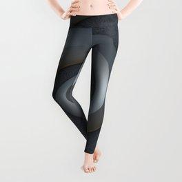 Gray 3-D Spiral Leggings