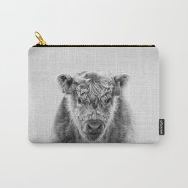 Fluffy Cow - Black & White Carry-All Pouch