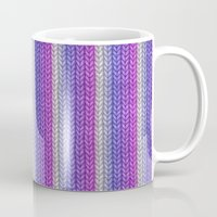 knitting Mugs featuring grannys knitting  by MehrFarbeimLeben