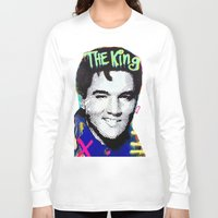 elvis presley Long Sleeve T-shirts featuring Elvis Presley  by Paola Gonzalez