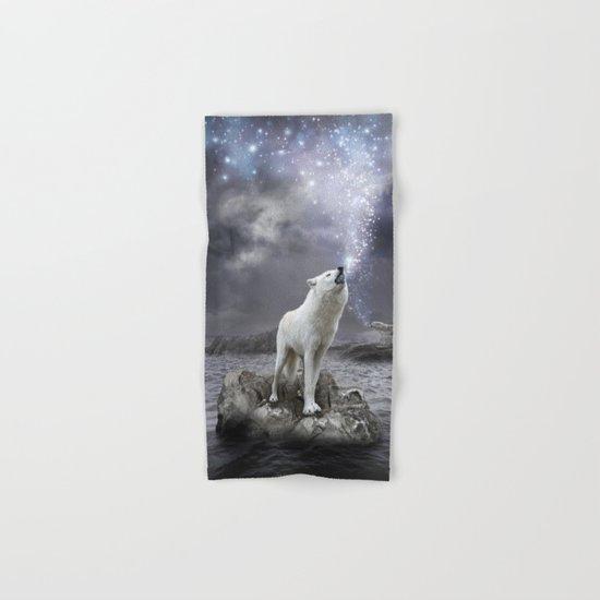 Stars Lie Hidden (Wolf Galaxy) Hand & Bath Towel
