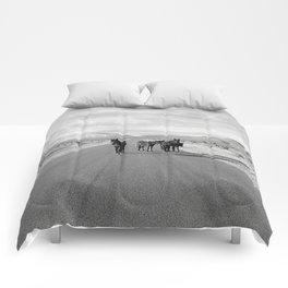Spring Mountain Wild Horses Comforters