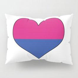 Gender Binary Heart Pillow Sham