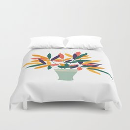 Potted Colorful Plant Duvet Cover
