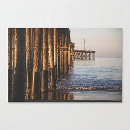 Pier at Sunrise Canvas Print
