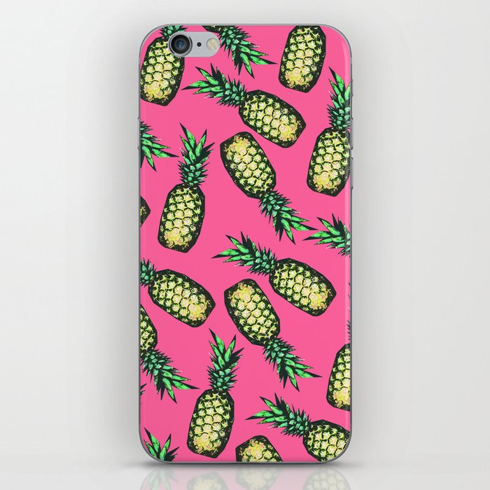 Pineapple Pattern iPhone Skin