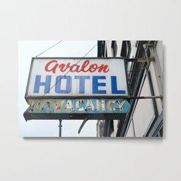 358. Avalon Hotel No Vacancy, Vancouver, Canada Metal Print