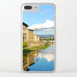 The Arno River - Florence Italy Clear iPhone Case