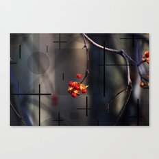 Berries And Mystical Shapes Canvas Print