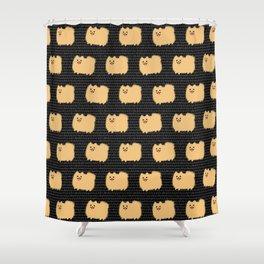 Cute Pomeranian | Fluffy Cartoon Pom Shower Curtain