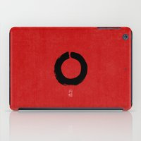 buddhism iPad Cases featuring ENSO IN JAPAN by THE USUAL DESIGNERS