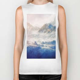 Mountain Winter Dream Biker Tank