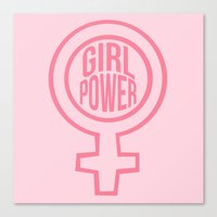 girl power Canvas Prints featuring Girl Power by aesthetically