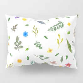 Flowers and leaves Pillow Sham