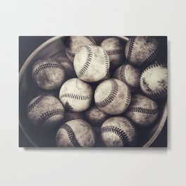 Bucket of Baseballs Metal Print