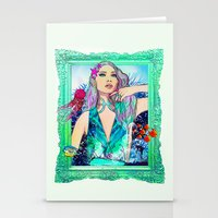 pisces Stationery Cards featuring Pisces by Sara Eshak