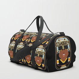 Ice Hockey Black and Yellow - Boardie Zamboni - Aretha version Duffle Bag