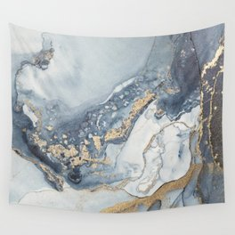 001 Luxury alcohol ink painting Wall Tapestry