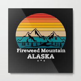 Fireweed Mountain Alaska Metal Print