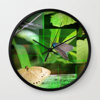 insects Wall Clocks featuring Forest Insects  by Andrew Sliwinski