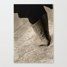 A Lady's Boots Canvas Print