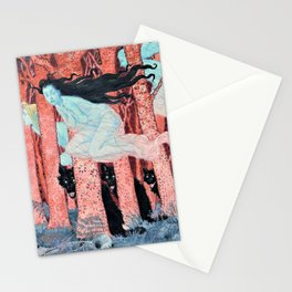 Eugene Grasset - Three women and three wolves - Digital Remastered Edition Stationery Cards