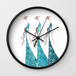 Zaza, Mimi & Gigi Wall Clock