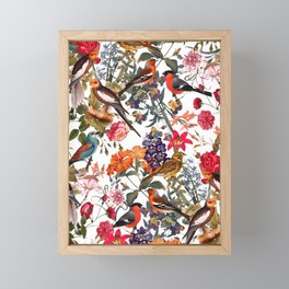 Floral and Birds XXXIII Framed Mini Art Print
